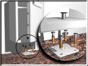eurosafe çelik kasa montaj platformu ile sabitlenir