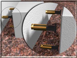 Eurosafe Çelik Kasa çelik dübeller ile zemine monte edilir.