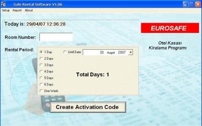 EUROSAFE Kiralık Otel Kasası Programı