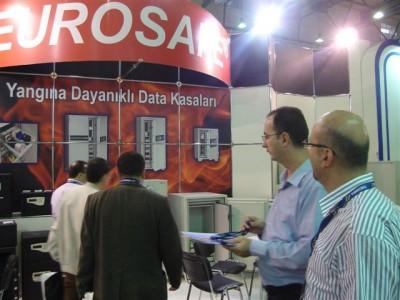Eurosafe data kasa modelleri ile Cebit Istanbul 2008 Fuarinda