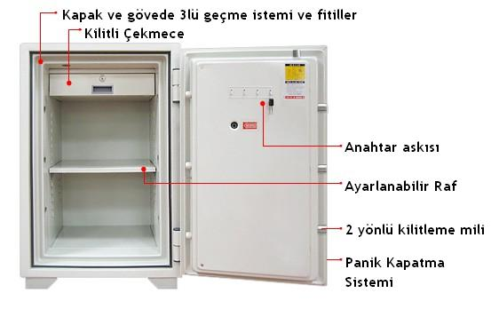 TSL 080 Eurosafe Dokunmatik Para Kasası - iç dizayn