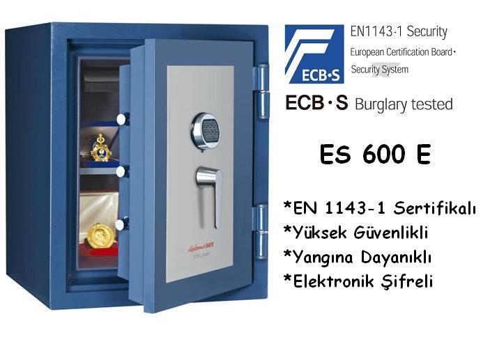 Çelik Kasa ES 600 yüksek Güvenlikli EN 1143-1 Sertifikalı